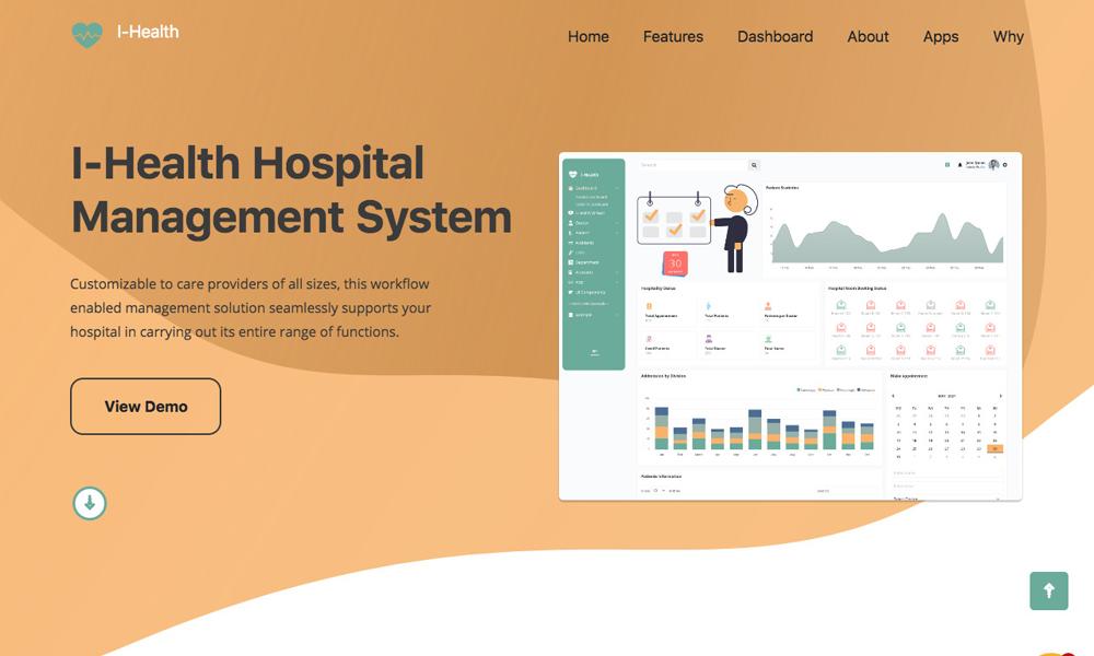 Ihealth - Hospital Management Admin Template