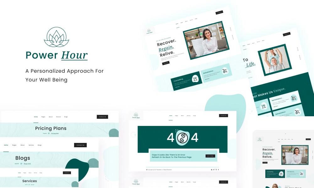 PowerHour | Best Free WordPress Theme for Therapist