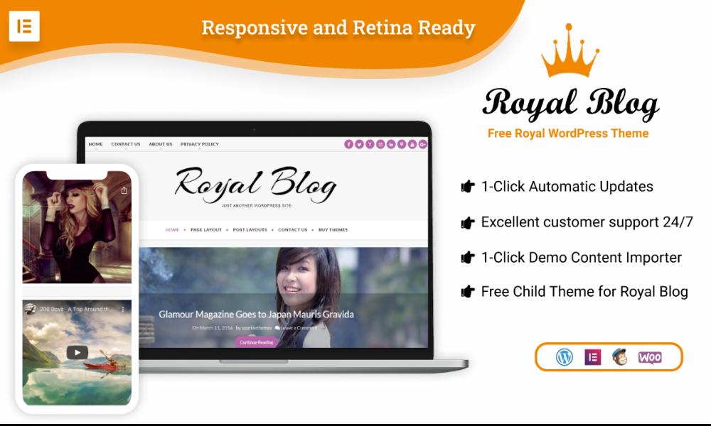 Royal Blog – Free WordPress Child Theme of Craft Blog