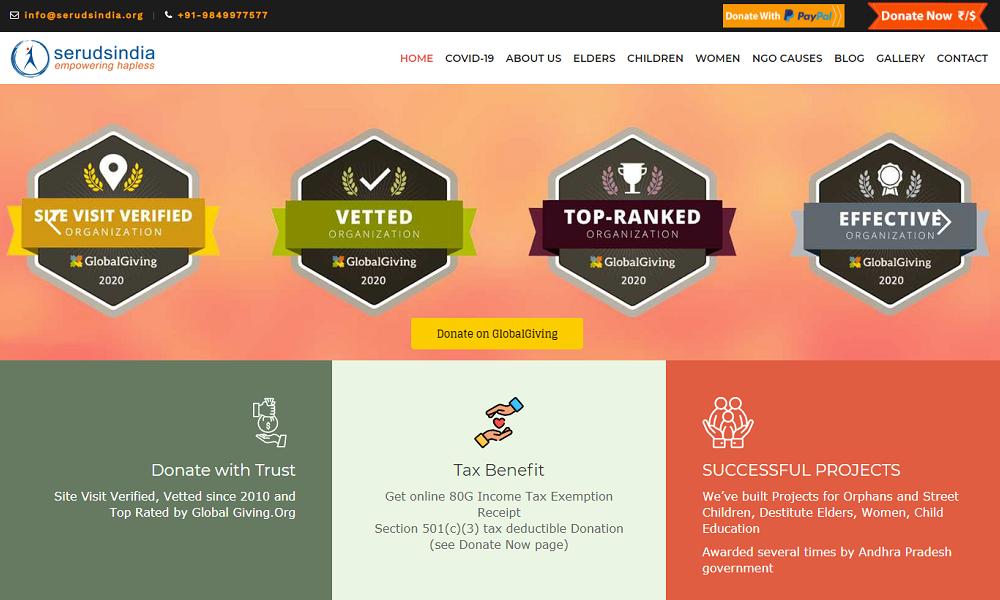 SERUDS Charity Website