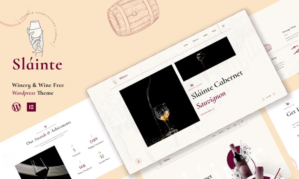 Slainte Lite   Best Free WordPress Theme For Wine Shop
