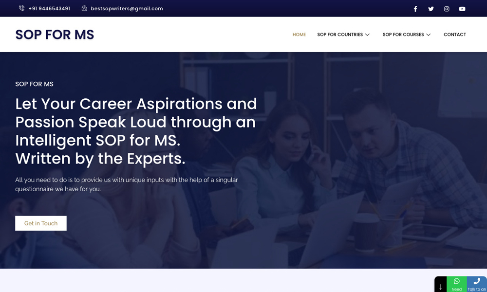 SOP FOR MS