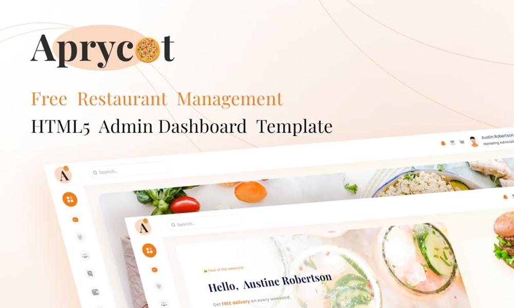 Aprycot Lite – Free Restaurant HTML5 Admin Dashboard Template