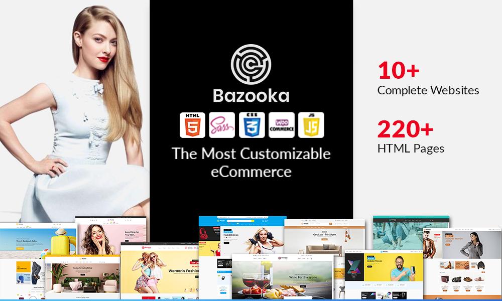 Bazooka Multipurpose eCommerce shopping HTML template