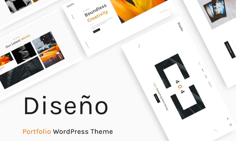 Diseno | Best Free WordPress theme for Designer Portfolio