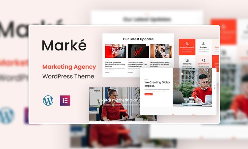 Marke   Best Free WordPress Theme for Marketing Agency