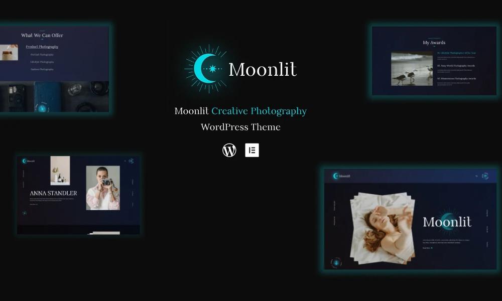 Moonlit | Best Free WordPress Theme For Creative photography