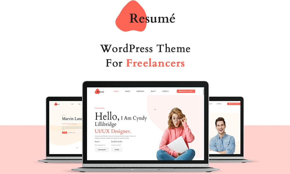Resume   Best Free WordPress Theme for Freelancers