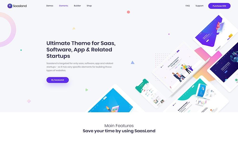 Saasland - MultiPurpose WordPress Theme for Saas Startup