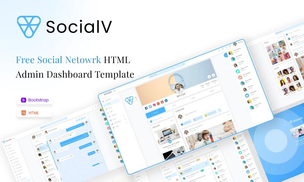 SocialV Lite | Free Social Network HTML Admin Dashboard Template