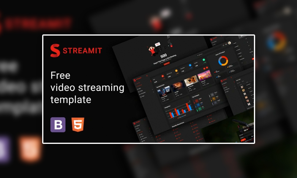 Streamit Lite   Free Video Streaming HTML Admin Template